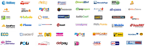 Paymentwall 85+ payment methods